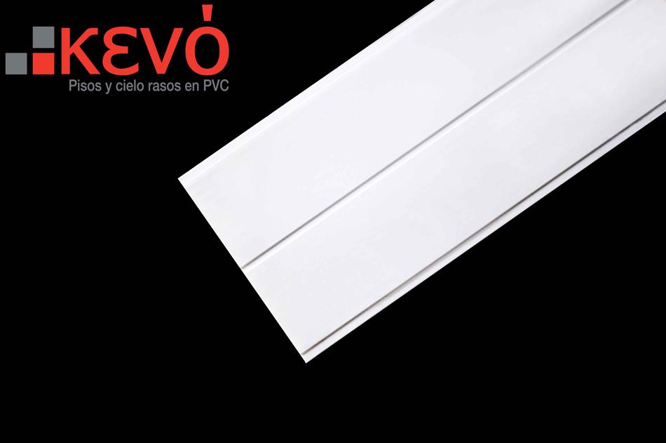 Recubrimiento de paredes blanco acanalado brillante kevo - Recubrimiento para paredes ...