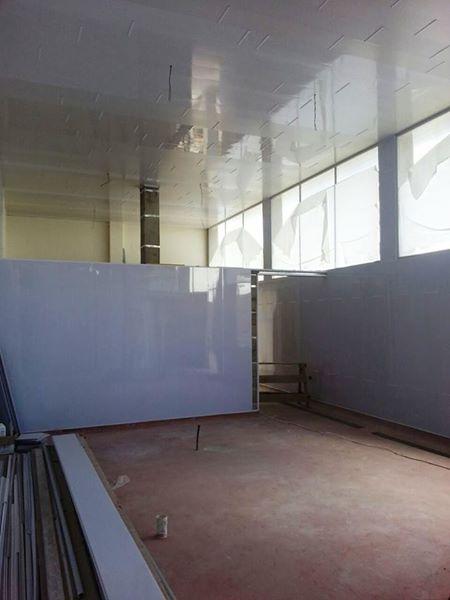 Recubrimiento de pared blanco brillante kevo - Recubrimiento para paredes ...